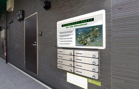 Digital notice board to inform
