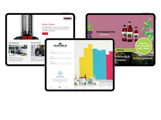 Screenshot App Content Kundenbeispiel